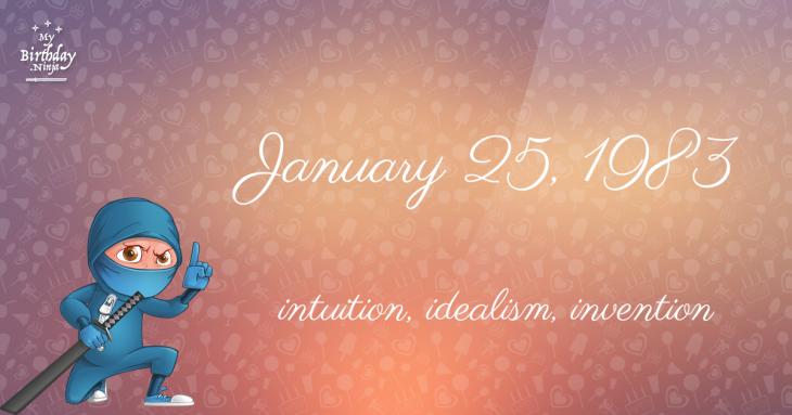 January 25, 1983 Birthday Ninja