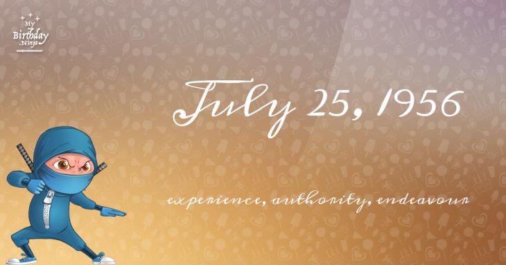 July 25, 1956 Birthday Ninja