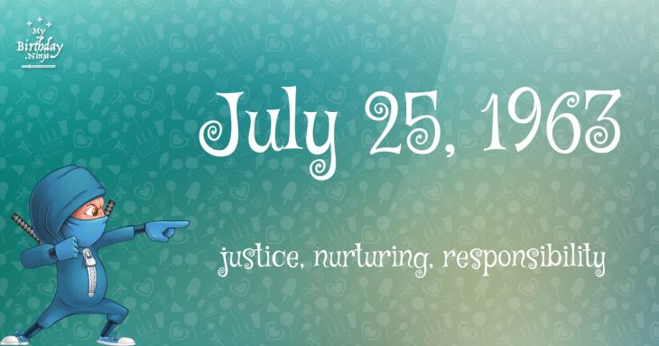 July 25, 1963 Birthday Ninja