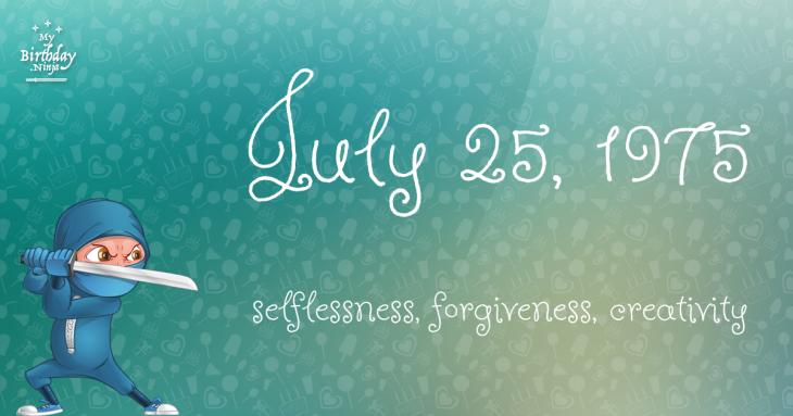 July 25, 1975 Birthday Ninja