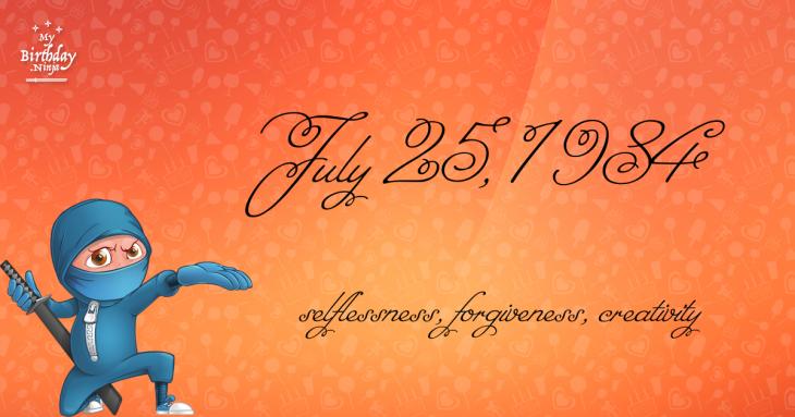 July 25, 1984 Birthday Ninja