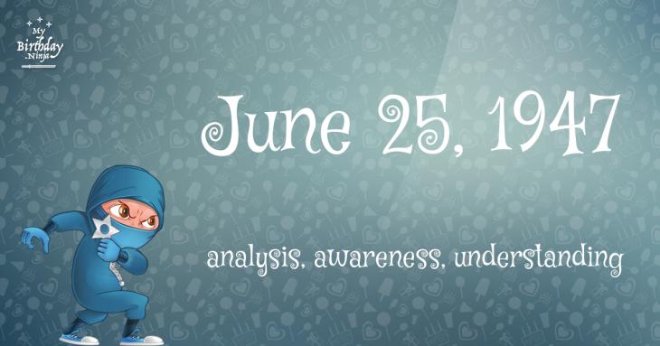 June 25, 1947 Birthday Ninja