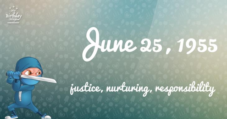 June 25, 1955 Birthday Ninja