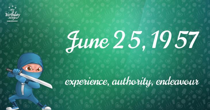 June 25, 1957 Birthday Ninja
