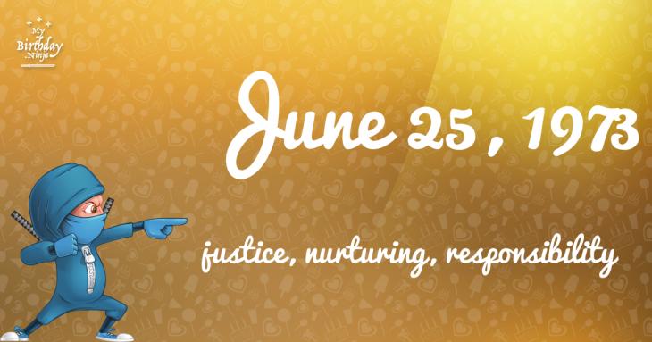 June 25, 1973 Birthday Ninja