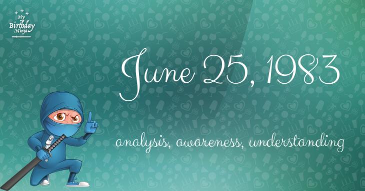 June 25, 1983 Birthday Ninja