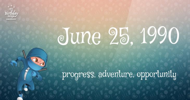June 25, 1990 Birthday Ninja