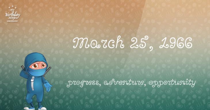March 25, 1966 Birthday Ninja