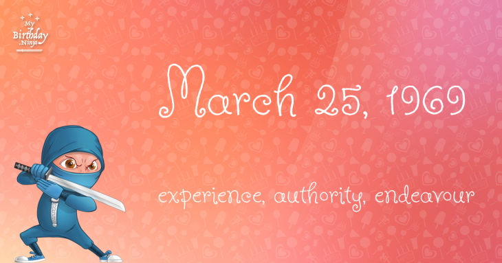 March 25, 1969 Birthday Ninja