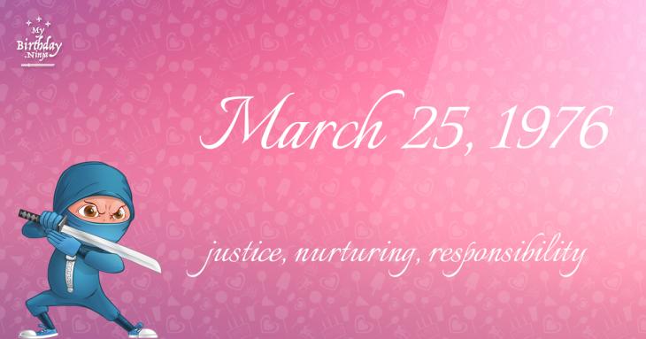 March 25, 1976 Birthday Ninja