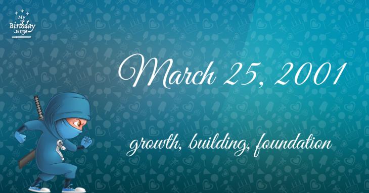 March 25, 2001 Birthday Ninja