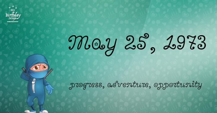 May 25, 1973 Birthday Ninja