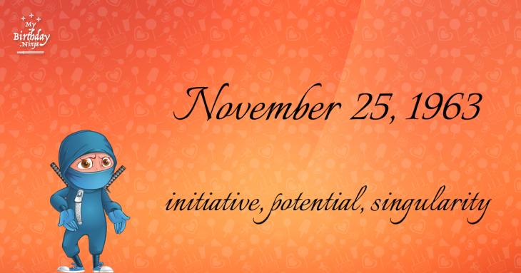 November 25, 1963 Birthday Ninja