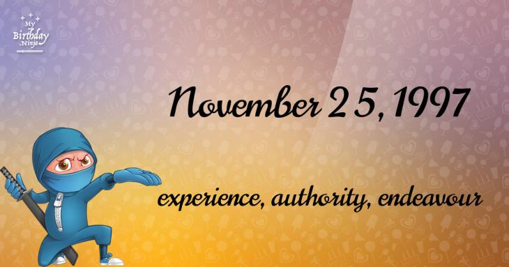 November 25, 1997 Birthday Ninja
