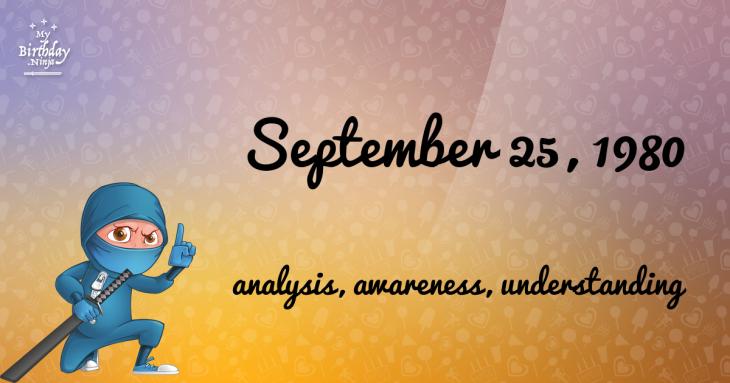 September 25, 1980 Birthday Ninja