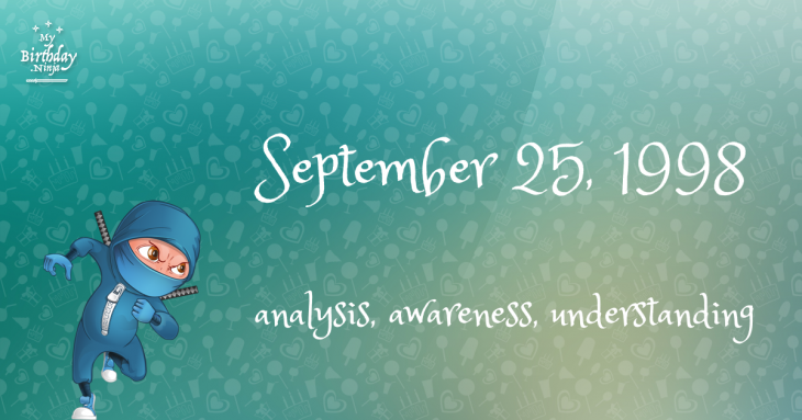 September 25, 1998 Birthday Ninja
