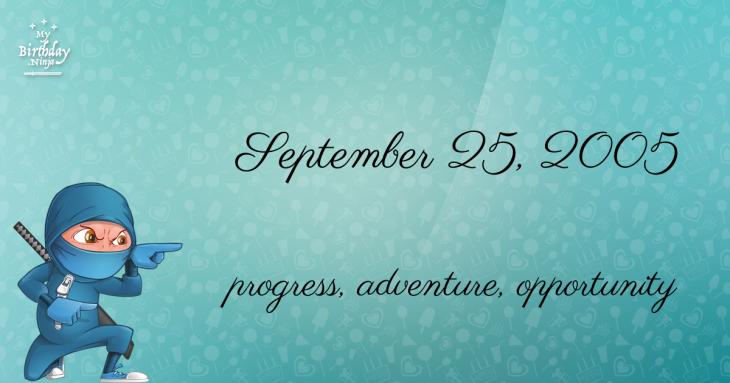 September 25, 2005 Birthday Ninja