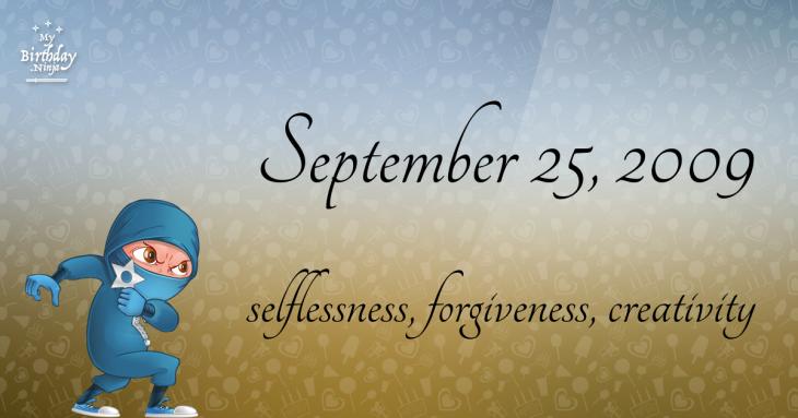 September 25, 2009 Birthday Ninja