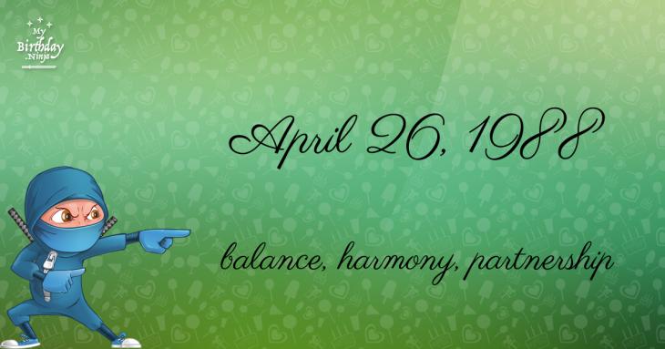 April 26, 1988 Birthday Ninja