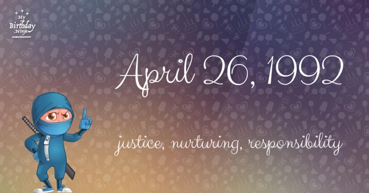 April 26, 1992 Birthday Ninja