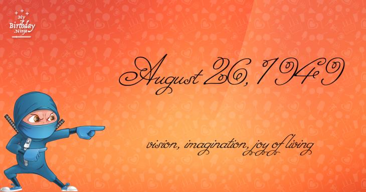August 26, 1949 Birthday Ninja