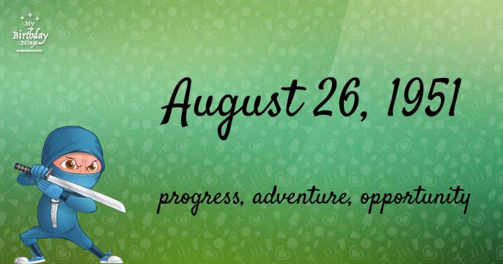August 26, 1951 Birthday Ninja