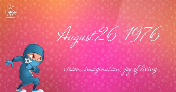August 26, 1976 Birthday Ninja