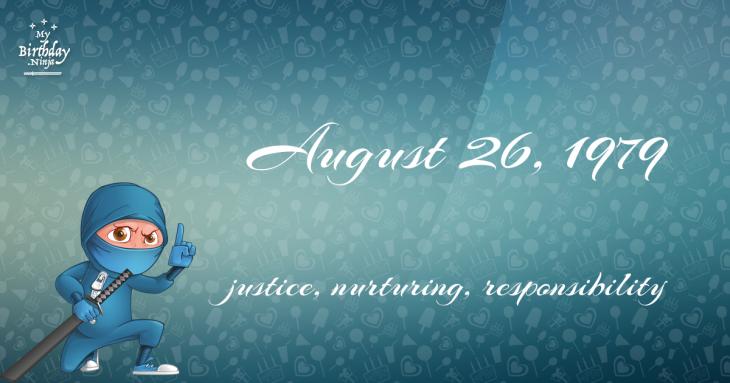 August 26, 1979 Birthday Ninja