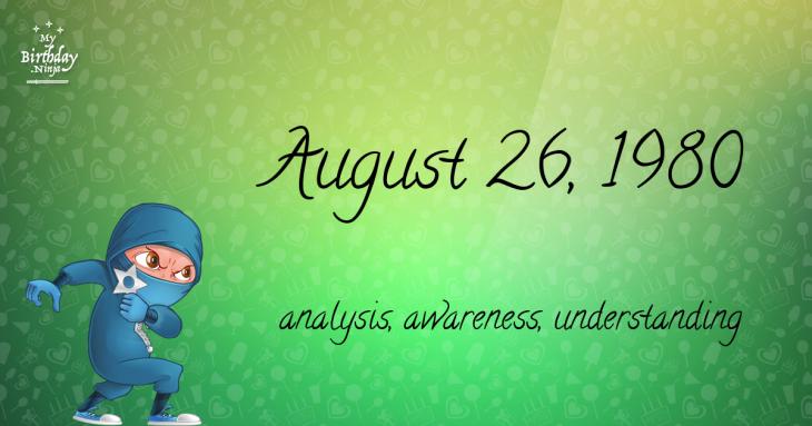 August 26, 1980 Birthday Ninja