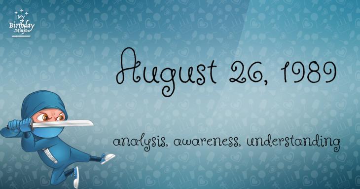 August 26, 1989 Birthday Ninja