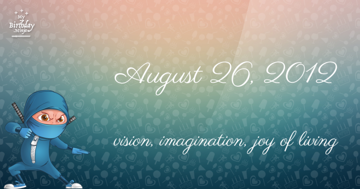 August 26, 2012 Birthday Ninja