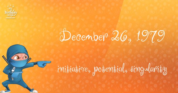 December 26, 1979 Birthday Ninja