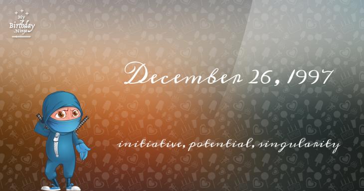 December 26, 1997 Birthday Ninja
