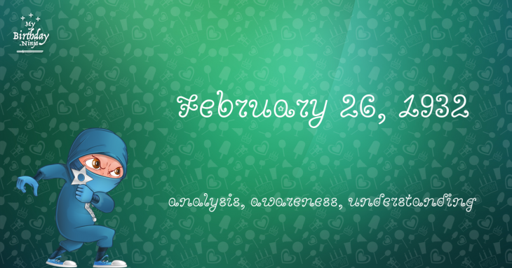 February 26, 1932 Birthday Ninja