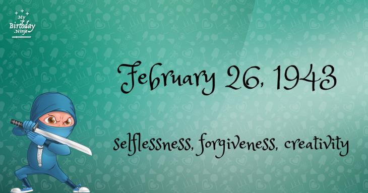 February 26, 1943 Birthday Ninja