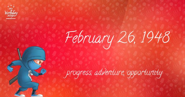 February 26, 1948 Birthday Ninja