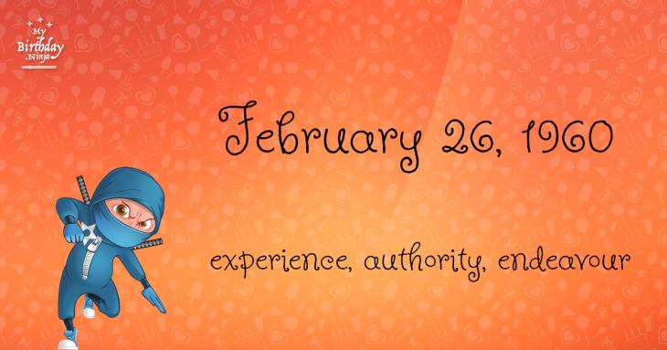 February 26, 1960 Birthday Ninja