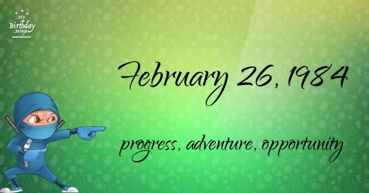 February 26, 1984 Birthday Ninja