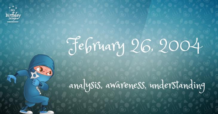 February 26, 2004 Birthday Ninja