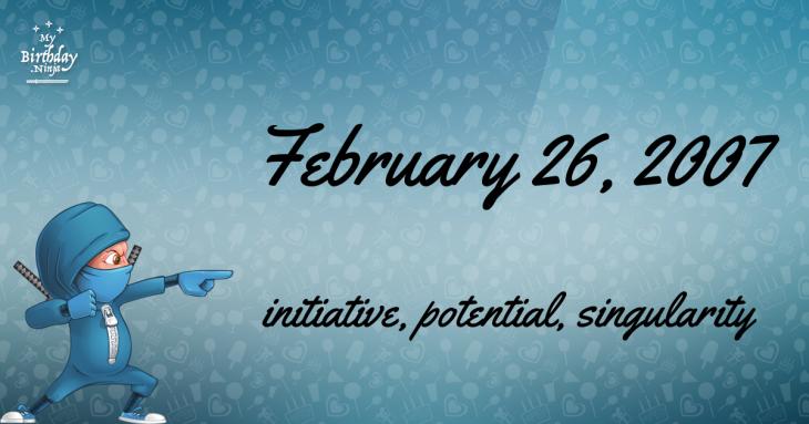 February 26, 2007 Birthday Ninja