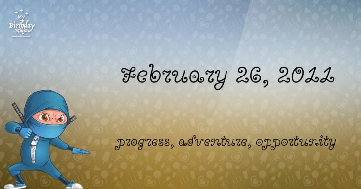 February 26, 2011 Birthday Ninja