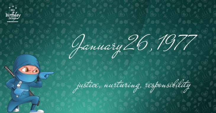 January 26, 1977 Birthday Ninja