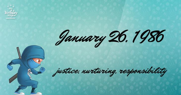 January 26, 1986 Birthday Ninja