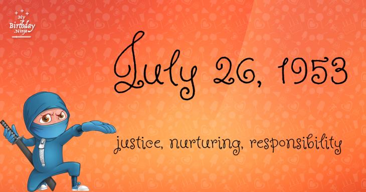 July 26, 1953 Birthday Ninja