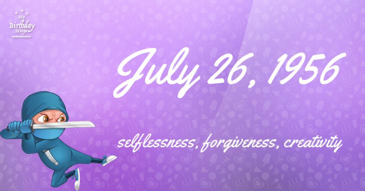 July 26, 1956 Birthday Ninja