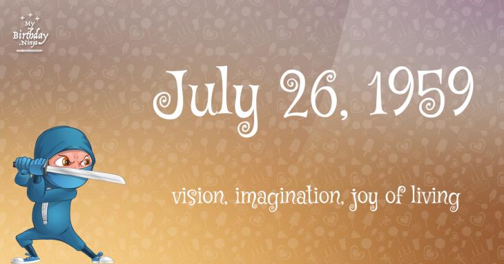 July 26, 1959 Birthday Ninja