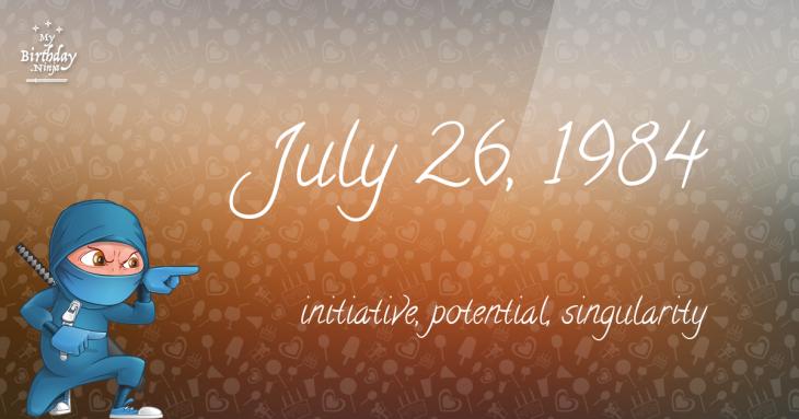 July 26, 1984 Birthday Ninja
