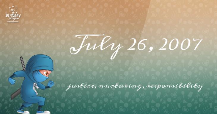 July 26, 2007 Birthday Ninja