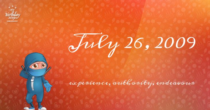 July 26, 2009 Birthday Ninja