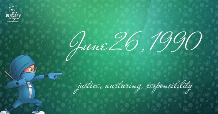 June 26, 1990 Birthday Ninja